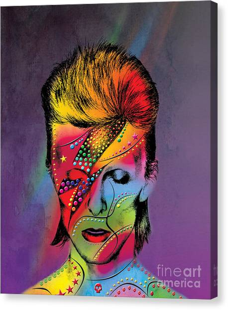 Men Canvas Print - David Bowie by Mark Ashkenazi
