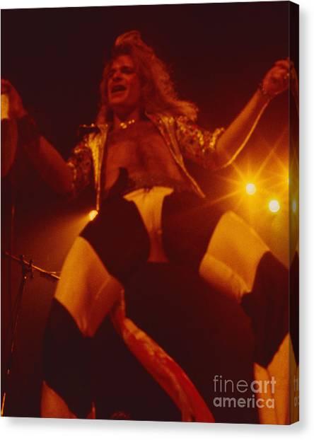 David Lee Roth - Van Halen At The Oakland Coliseum 12-2-1978 Rare Unreleased Canvas Print