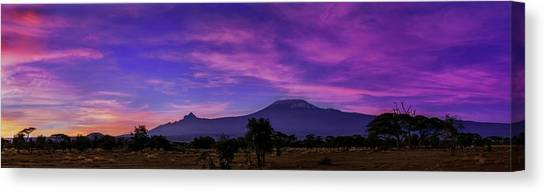 Mount Kilimanjaro Canvas Print - Dawn Over Mount Kilimanjaro by Babak Tafreshi
