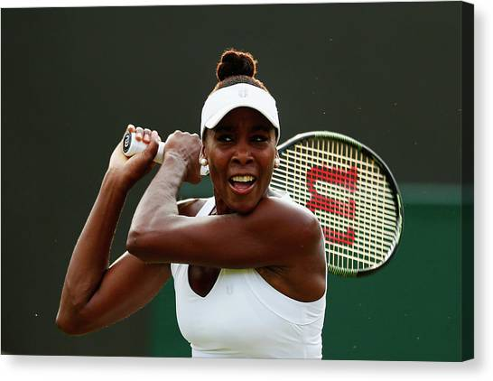 Venus Williams Canvas Print - Day Three The Championships - Wimbledon by Julian Finney