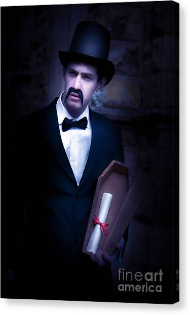 Undertaker Canvas Print - Death Message by Jorgo Photography - Wall Art Gallery