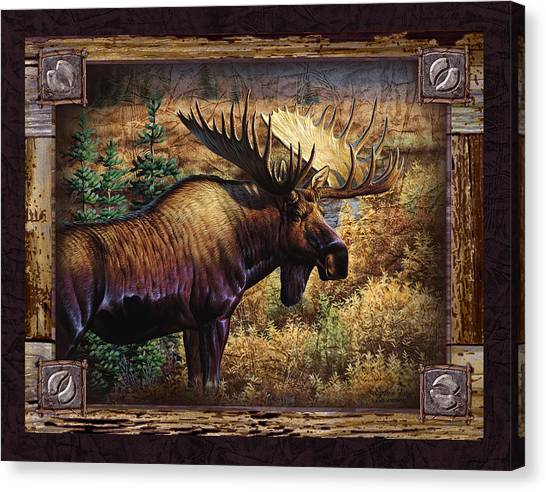 Moose Canvas Print - Deco Moose by JQ Licensing