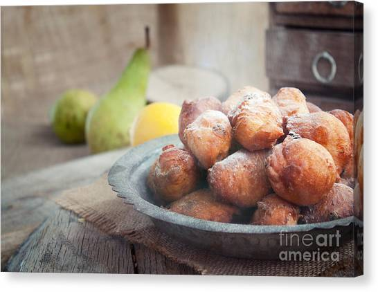 Mythja Canvas Print - Deep Fried Fritters Donuts by Mythja  Photography