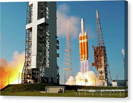 Delta Canvas Print - Delta Iv Rocket Launch by National Reconnaissance Office