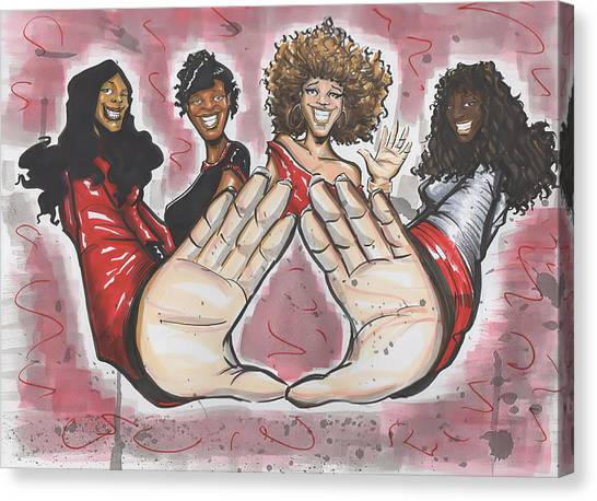 Delta Sigma Theta Sorority Inc Canvas Print