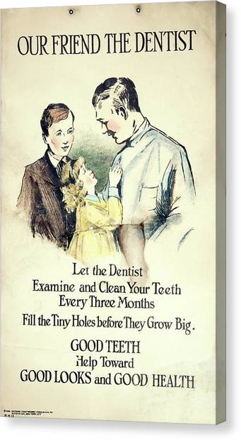 Dental Health Education Poster Canvas Print by British Dental Association Museum/science Photo Library