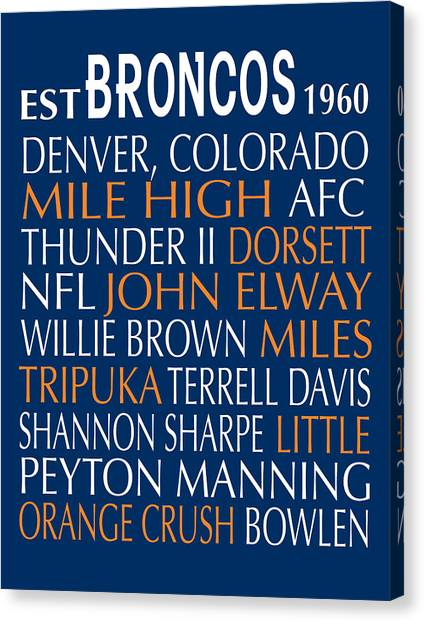 John Elway Canvas Print - Denver Broncos by Jaime Friedman