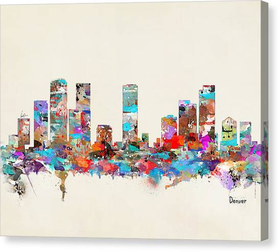 Colorado Canvas Print - Denver Colorado Skyline by Bri Buckley