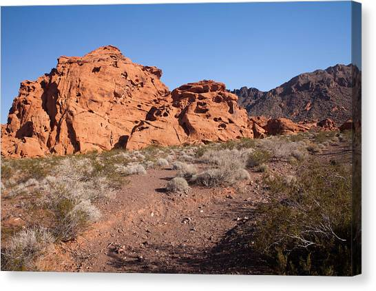 Desert Rock Formations Canvas Print