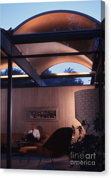 Futurism Canvas Print - Case Study House No. 20 By Buff Hensman And Straub by The Harrington Collection