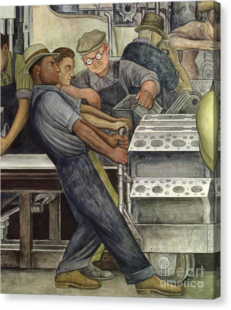 Mills Canvas Print - Detroit Industry   North Wall by Diego Rivera