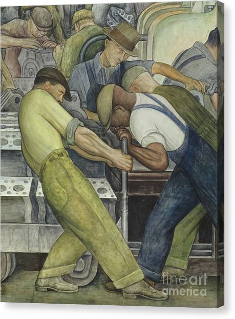Factory Canvas Print - Detroit Industry  North Wall by Diego Rivera