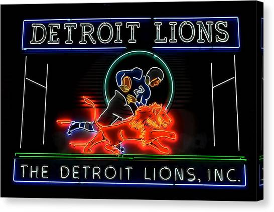Barry Sanders Canvas Print - Detroit Lions Football by Frozen in Time Fine Art Photography