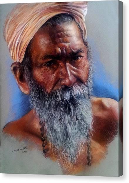 Devotee Canvas Print by Arti Chauhan