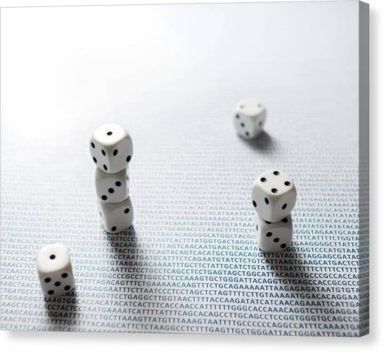 Genetics Canvas Print - Dice And Dna by Robert Brook
