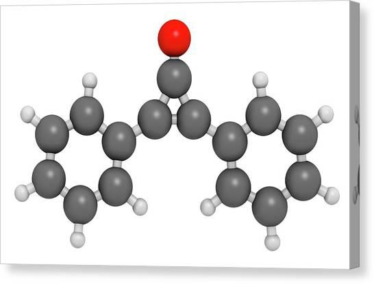 Diphencyprone Alopecia Drug Molecule Canvas Print by Molekuul