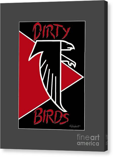 Dirty Birds Canvas Print