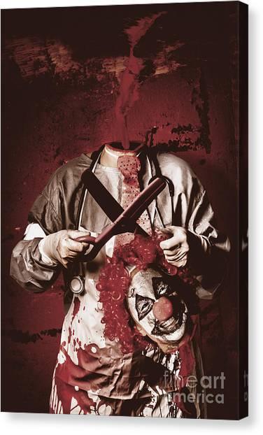 Clown Art Canvas Print - Disturbed Evil Boogieman Without Head by Jorgo Photography - Wall Art Gallery