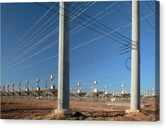 Disused Solar Power Plant Canvas Print by Jim West