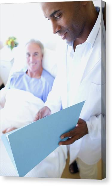 Folders Canvas Print - Doctor And Patient by Ian Hooton/science Photo Library