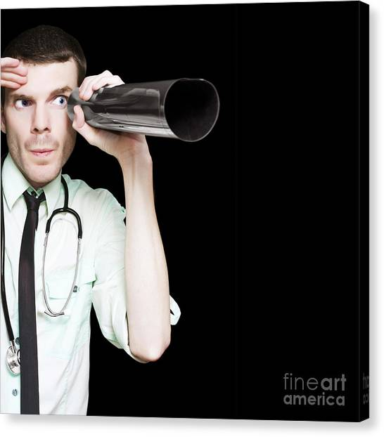 Outbreak Canvas Print - Doctor Seeing The Future Of Medicine Through X-ray by Jorgo Photography - Wall Art Gallery