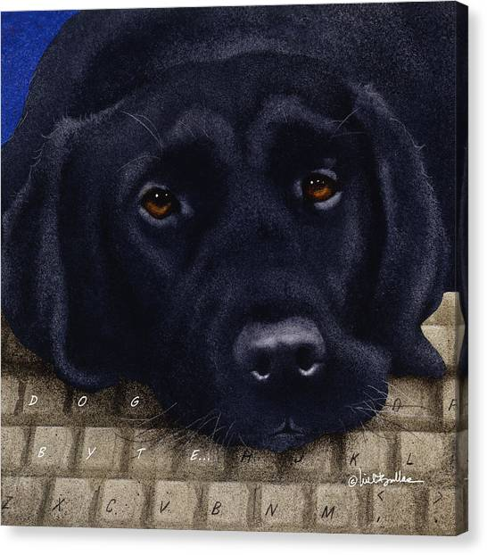 Labrador Canvas Print - Dog Byte... by Will Bullas