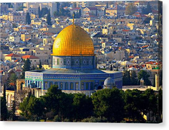 Pilgrims Canvas Print - Dome Of The Rock by Stephen Stookey