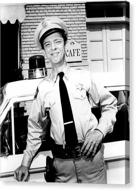 Don Knotts In The Andy Griffith Show  Canvas Print