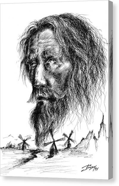Don Quixote Canvas Print by Boyan Donev