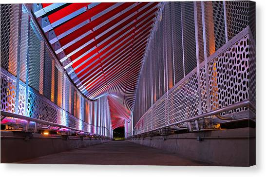 Double Helix Footbridge Canvas Print