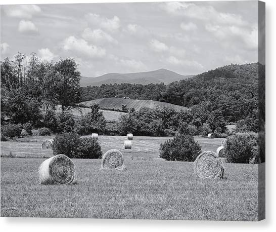 Hay Bales Canvas Print - Down On The Farm by Kim Hojnacki