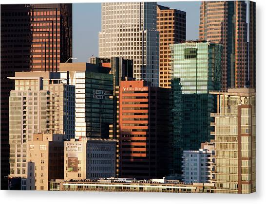 Downtown Los Angeles Canvas Print by Mitch Diamond