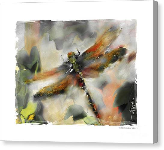 Wetlands Canvas Print - Dragonfly Garden by Bob Salo