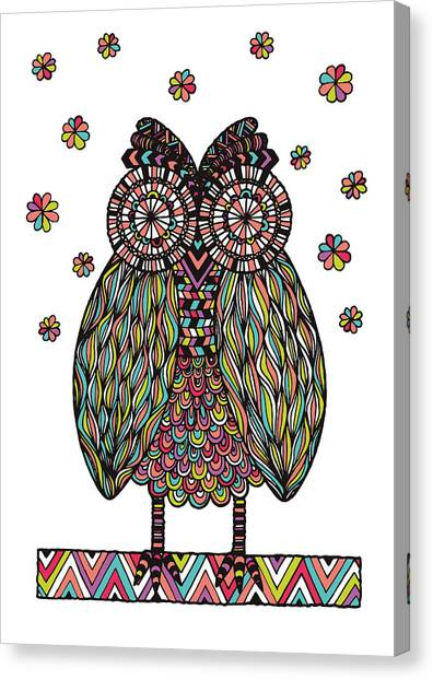Owls Canvas Print - Dream Owl by Susan Claire