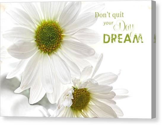 Dreams With Message Canvas Print