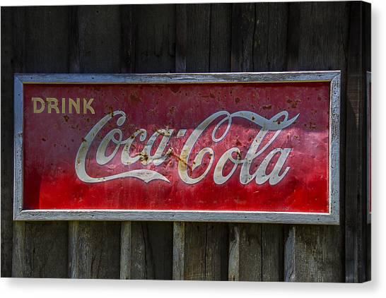 Coca Cola Canvas Print - Drink Coca Cola by Garry Gay