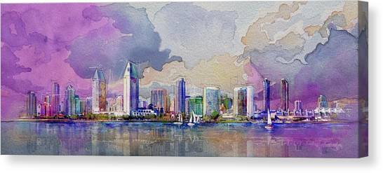 Dubai Skyline Canvas Print - Dubai Skyline by Corporate Art Task Force