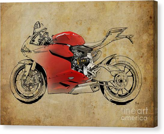 Ducati Panigale Canvas Prints Fine Art America
