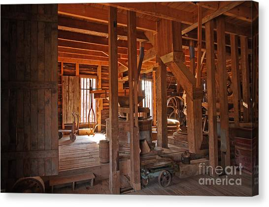 Dunn's Mill Canvas Print by Russell Christie