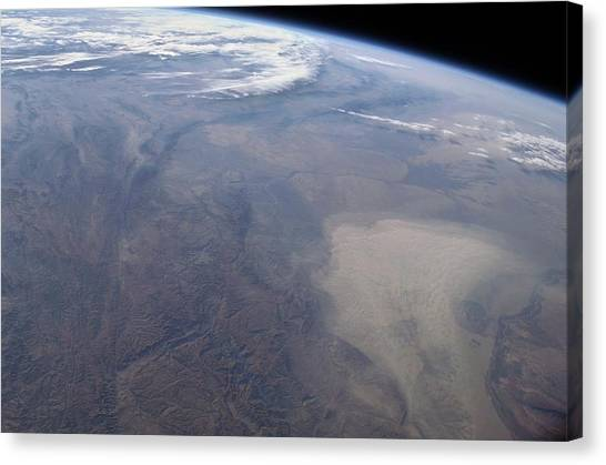 Hindu Kush Canvas Print - Dust Storm by Nasa/science Photo Library