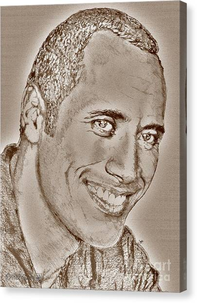 Dwayne Johnson Canvas Print - Dwayne Johnson In 2007 by J McCombie
