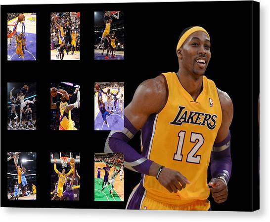 Dwight Howard Canvas Print - Dwight Howard by Joe Hamilton