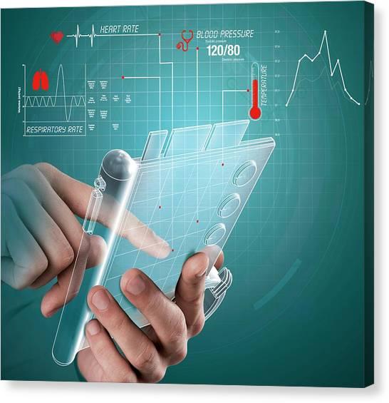 Future Tech Canvas Print - E-medicine by Claus Lunau