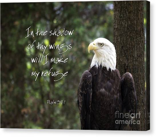 Eagle Scripture Canvas Print
