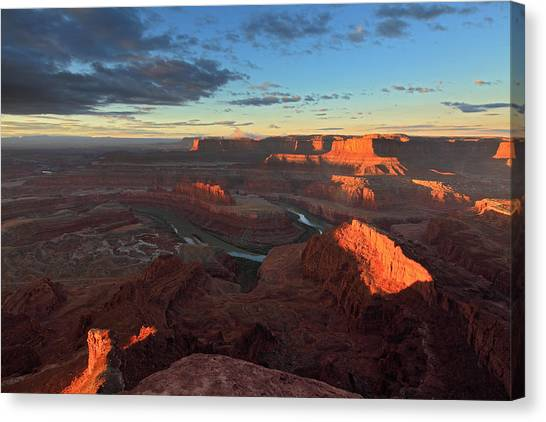 Early Morning At Dead Horse Point Canvas Print