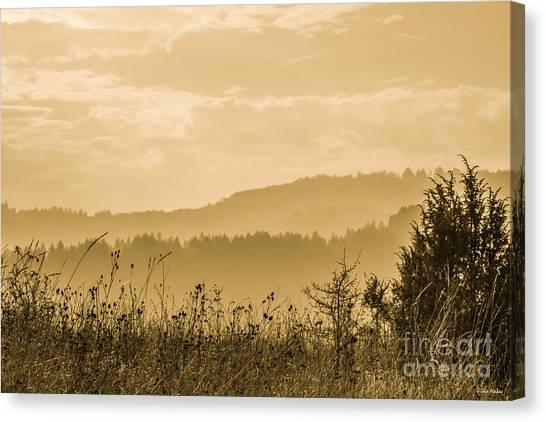 Early Morning Vitosha Mountain View Bulgaria Canvas Print