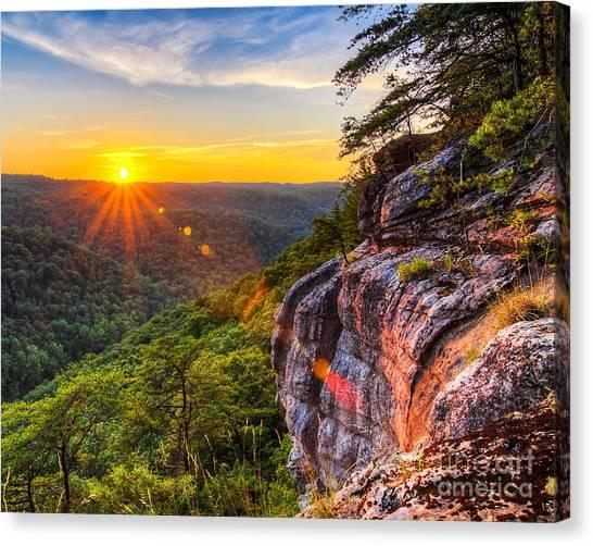 Big South Canvas Print - East Rim Sunset by Anthony Heflin