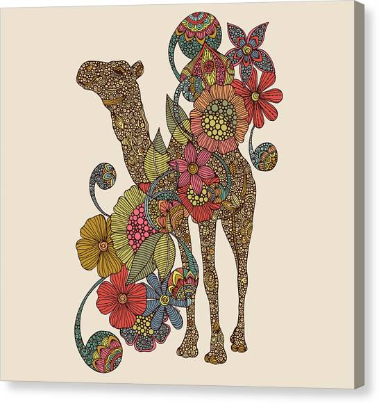 Desert Canvas Print - Easy Camel by Valentina