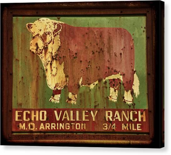 Echo Valley Ranch Canvas Print