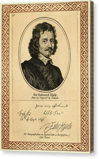 Edward Hyde, 1st Earl Of  Clarendon Canvas Print by Mary Evans Picture Library